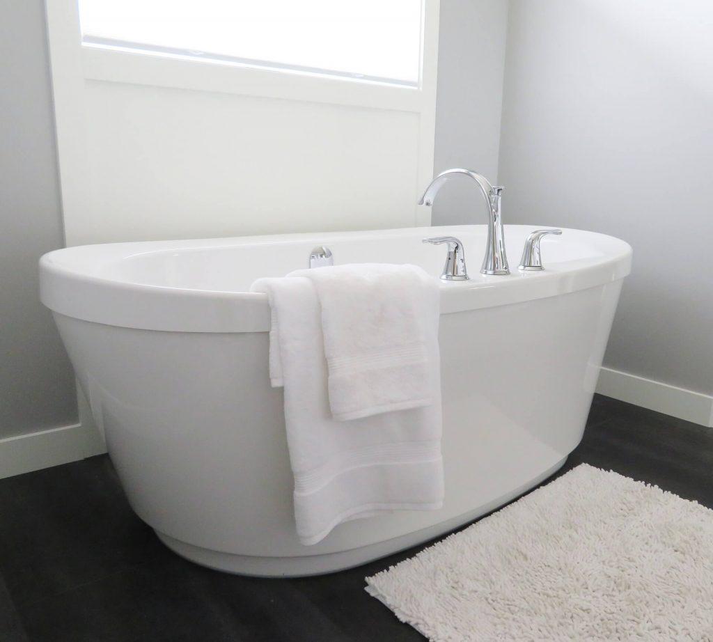 landelijke badkamer in huis