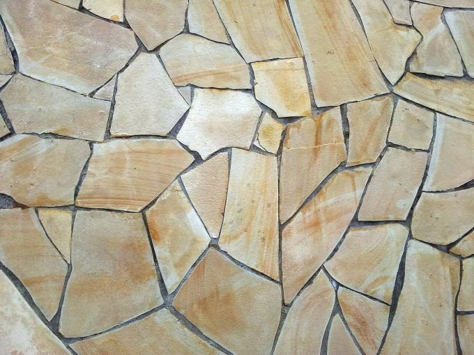 Natuurstenen vloer in huis